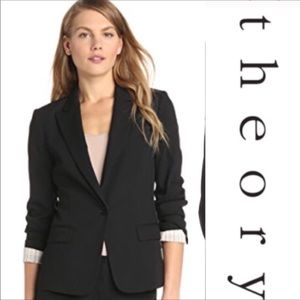 Theory Gabe B Tailor Jacket Blazer - Black, 2